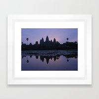 Angkor Wat sunrise Framed Art Print