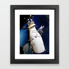 Milky | Collage Framed Art Print