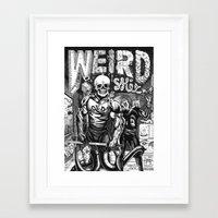 Weird Shit Framed Art Print