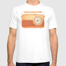 Radio Silence Mens Fitted Tee White SMALL