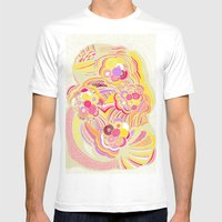 Blossom  Mens Fitted Tee White SMALL