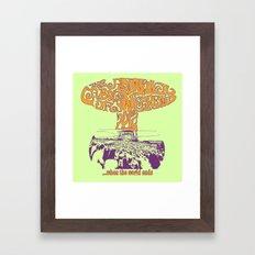 When the World Ends Framed Art Print