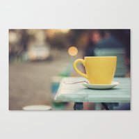The yellow cup Canvas Print