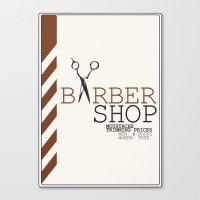 Barbershop Canvas Print