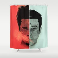 Tyler Durden V. the Narrator Shower Curtain