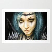 Unstoppable: A Vampiric Warrior  Art Print