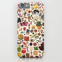iPhone Cases featuring TABLE OF CONTENTS by Beth Hoeckel Collage & Design