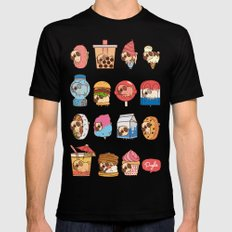 Puglie Food 3 Mens Fitted Tee Black SMALL