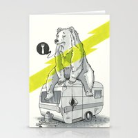 Camping Bear Stationery Cards