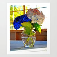 Light and flowers Art Print