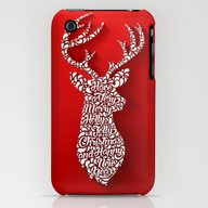 Happy Holidays - Deer iPhone (3g, 3gs) Slim Case