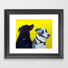 STINKY AND ZEKE by Jean-Paul Langlois Framed Art Print