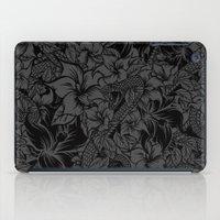 Snaky Fleur, Black and Grey iPad Case