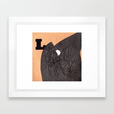 L word Framed Art Print