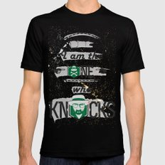 Breaking Bad Typography  Mens Fitted Tee Black SMALL
