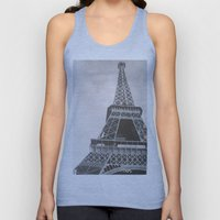 Untitled (Eiffel Tower) Unisex Tank Top