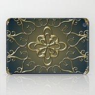 Golden Nemo Pattern iPad Case