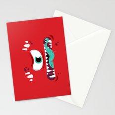 Baddest Red Monster! Stationery Cards