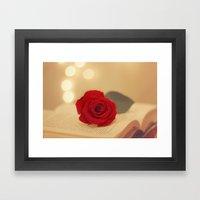 Romance Novel Framed Art Print