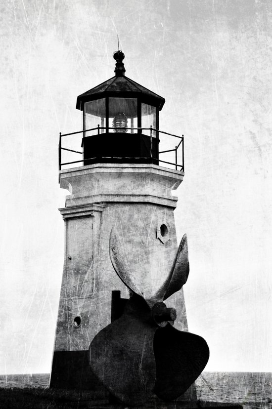 B&W Lighthouse Art Print