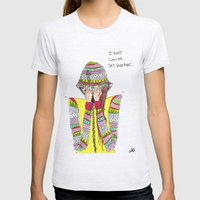 shy Womens Fitted Tee Ash Grey SMALL