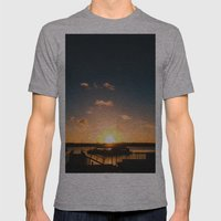 Sun Is Going Down Mens Fitted Tee Athletic Grey SMALL