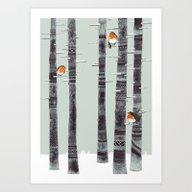 Robin Trees Art Print