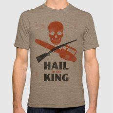 Hail to the King! Mens Fitted Tee Tri-Coffee SMALL