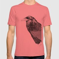 Corvus Corax Mens Fitted Tee Pomegranate SMALL