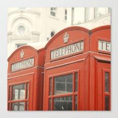 Telephone - London Photography Canvas Print