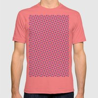 PINK & BLUE DOT Mens Fitted Tee Pomegranate SMALL