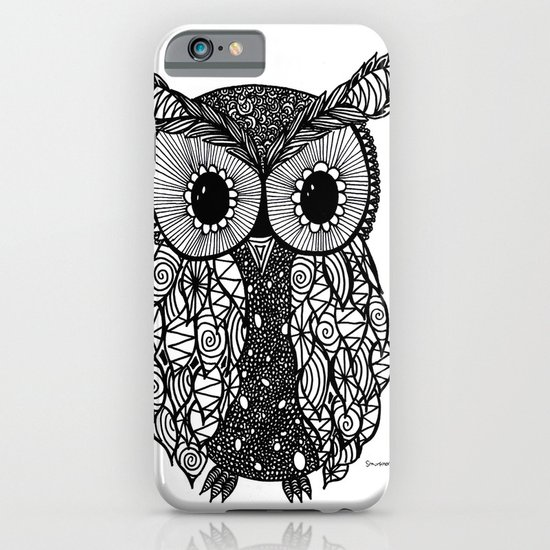 crazy owl iPhone & iPod Case