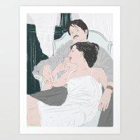 Coco Chanel & Igor Strav… Art Print