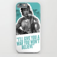 iPhone & iPod Case featuring Badass 80's Action Movie Quotes - Rambo: First Blood by Casa del Kables