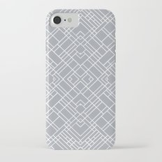 Map Outline 45 Grey Repeat Slim Case iPhone 7