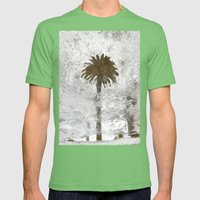 Rainy Day Palm Tree Mens Fitted Tee Grass SMALL