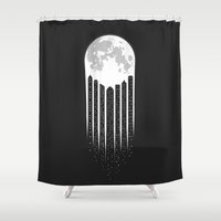 Moon-City Shower Curtain