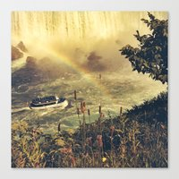 Eyes Filled With Rainbow… Canvas Print