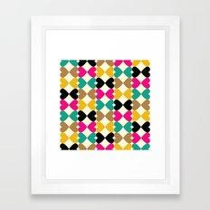 Bow Hearts #2 Framed Art Print