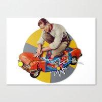 Mr Fixit   Collage Canvas Print