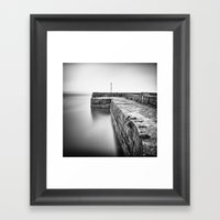 Empty harbour Framed Art Print