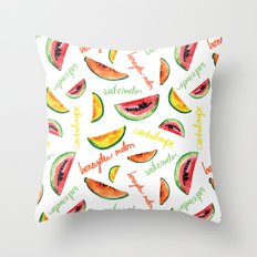 Melon pattern Throw Pillow