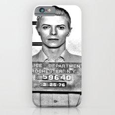 Bowie, David Mugshot (1976) Rochester, N.Y. iPhone 6 Slim Case