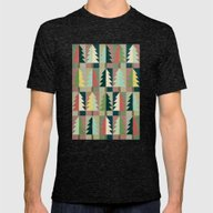 Christmas Trees Mens Fitted Tee Tri-Black SMALL