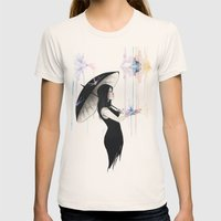 Pluviophile Womens Fitted Tee Natural SMALL