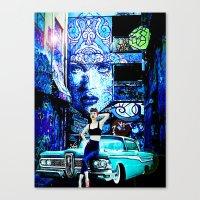 Grease, Brick And Iron Canvas Print