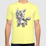 Almighty Pooch Mens Fitted Tee Lemon SMALL