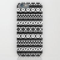 iPhone & iPod Case featuring Fair Isle Black & White by Rachel Follett