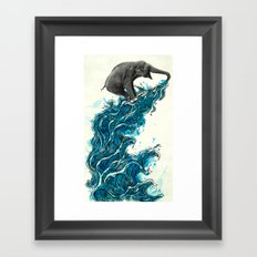 Self Serve/Surf Framed Art Print
