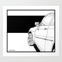 car Art Prints featuring Car by Jonas Ericson